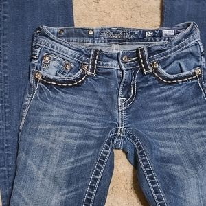 Barely worn boot cut miss me jeans